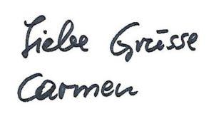 Liebe Grüsse von Carmen Obernosterer